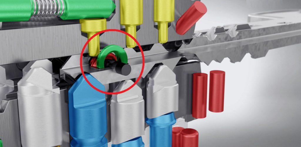 DOM veiligheidscilinder ix TwinStar detail